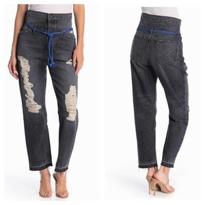 HUDSON Jeans Jessi Relaxed High Waist Distressed
